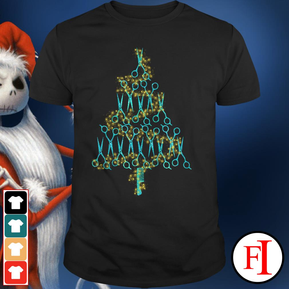 Christmas tree Hairstylist scissors Shirt