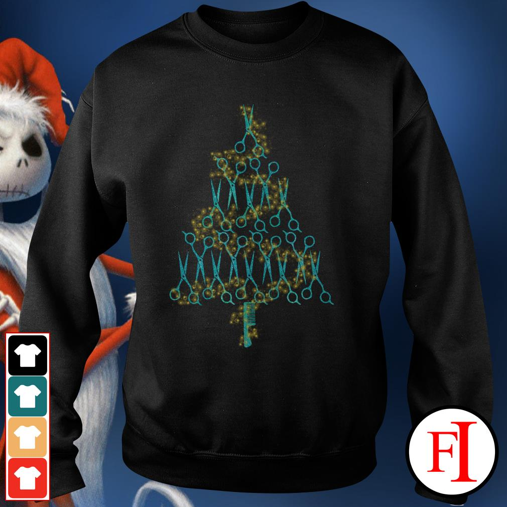 Christmas tree Hairstylist scissors Sweater