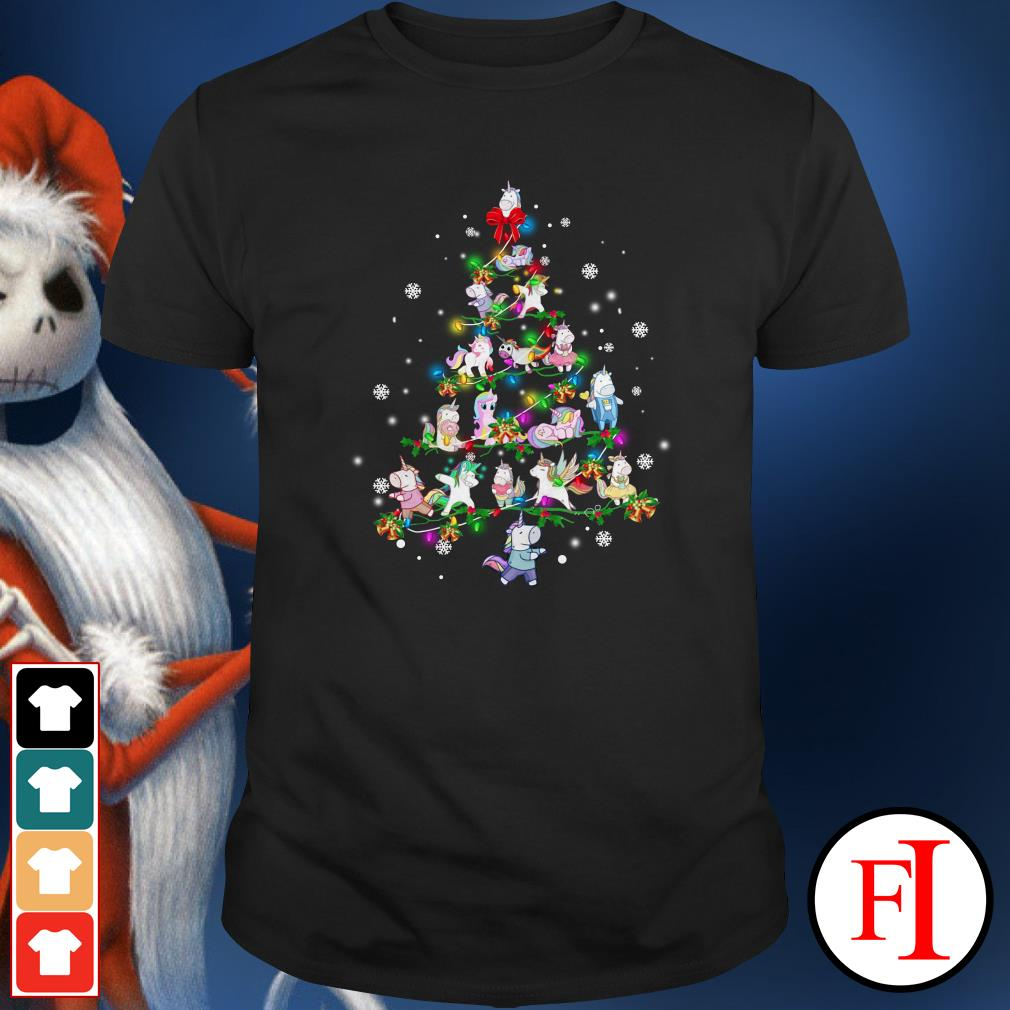 Christmas tree Unicorn Shirt