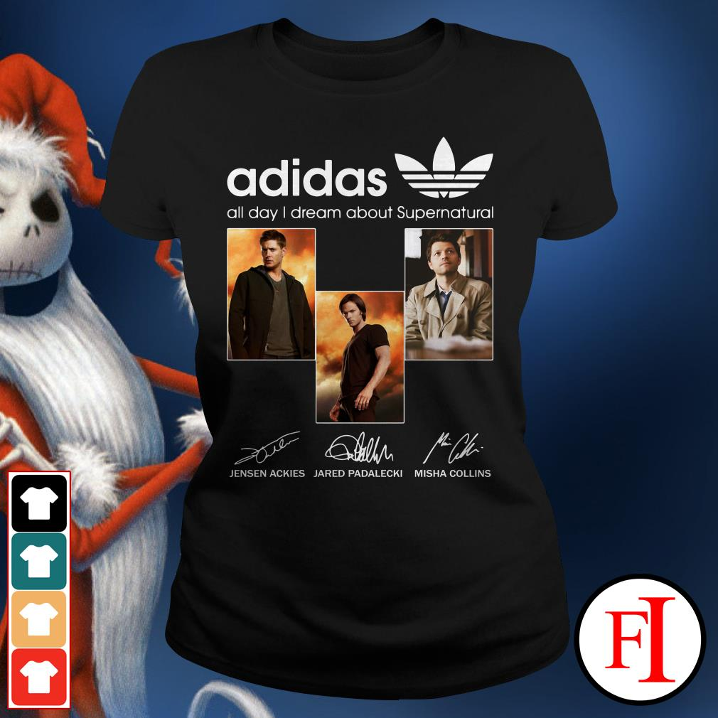 All day I dream about Supernatural Adidas Ladies Tee