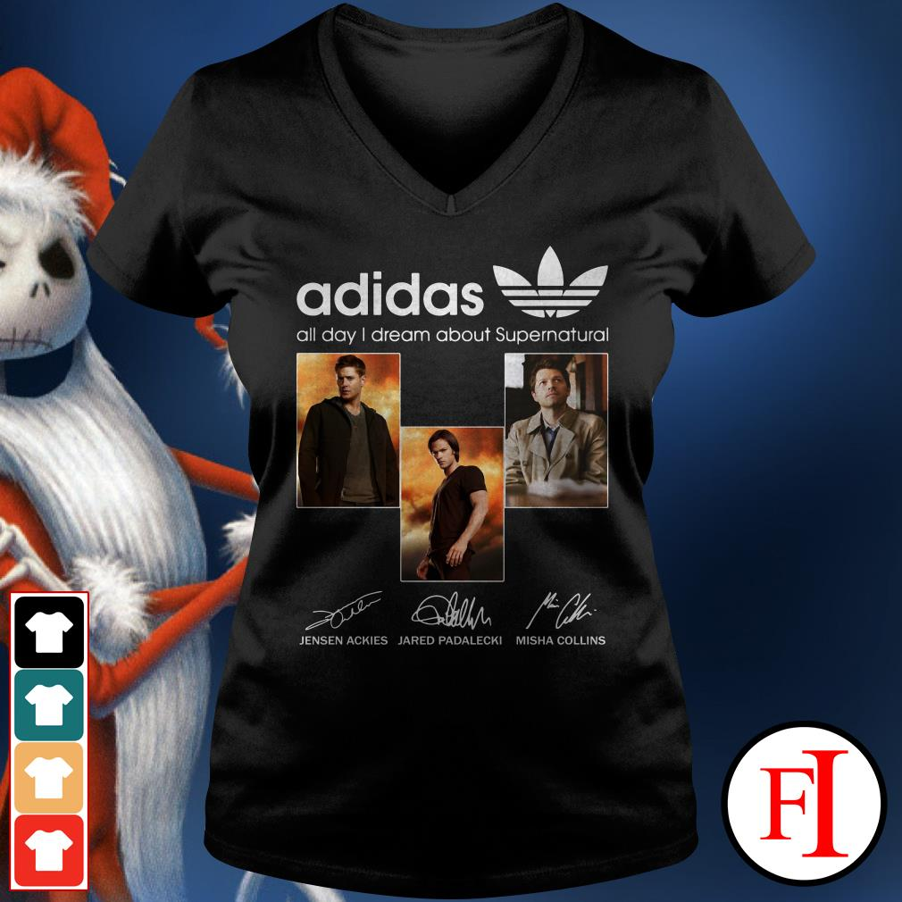 All day I dream about Supernatural Adidas V-neck t-shirt