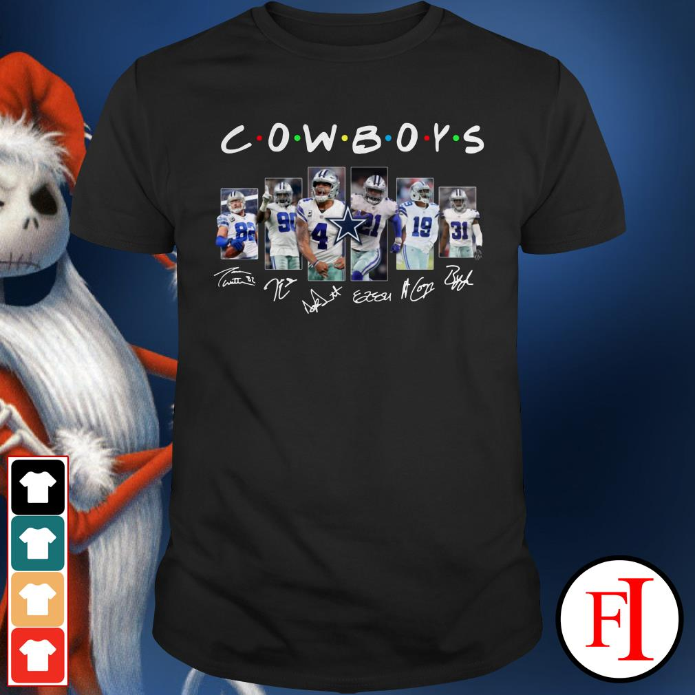 Friends TV show Dallas Cowboys signatures Shirt