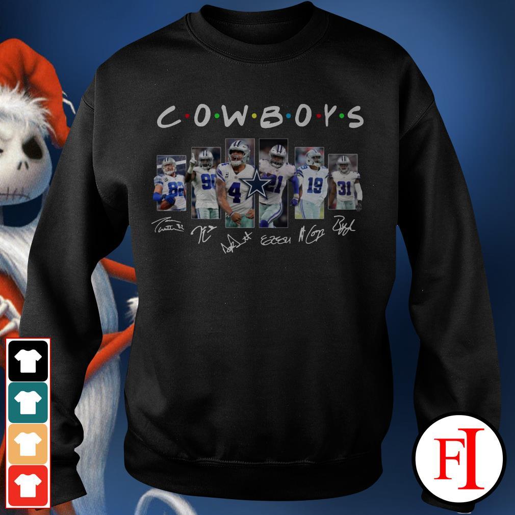 Friends TV show Dallas Cowboys signatures Sweater