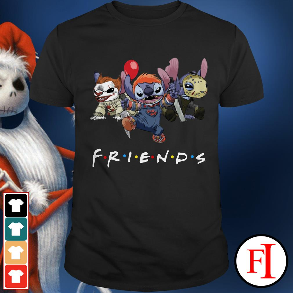 Friends tv show Stitch Pennywise Chucky Jason Voorhees Shirt