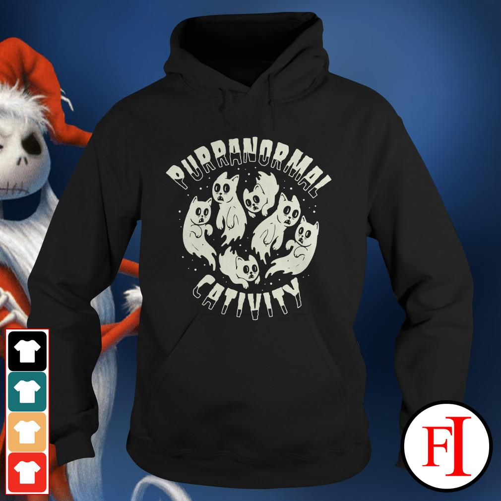 Halloween Purranormal Cativity Scary Cats Hoodie
