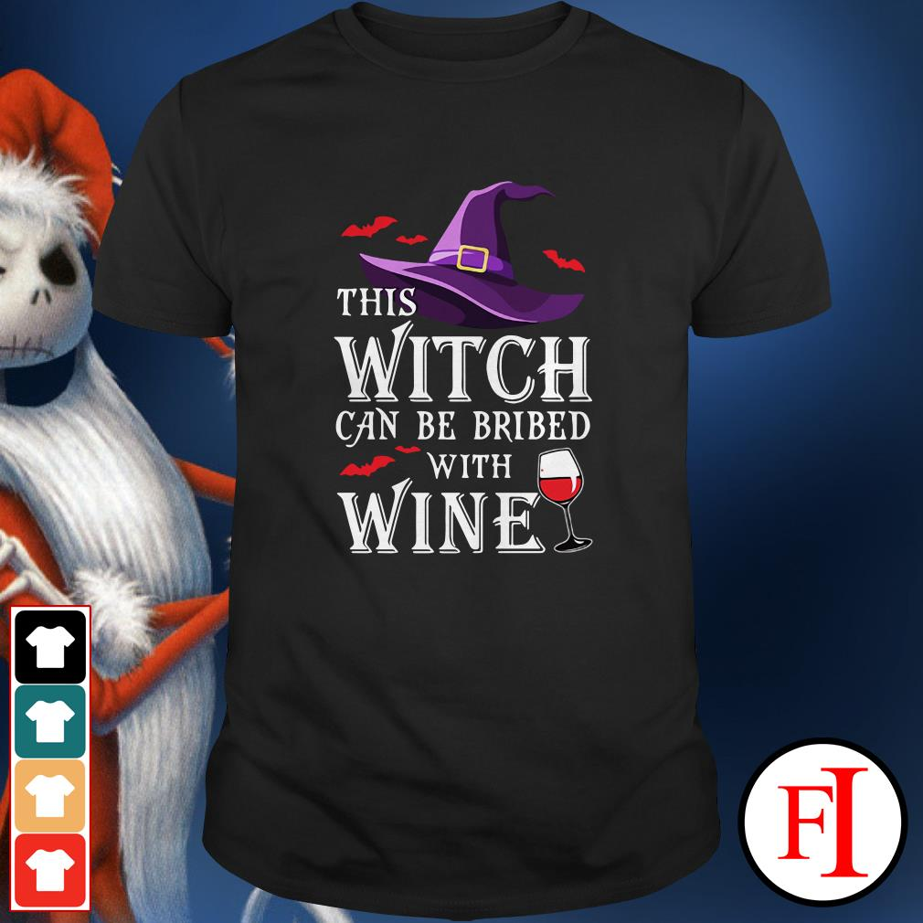 Halloween This witch can be bribed with wine Shirt