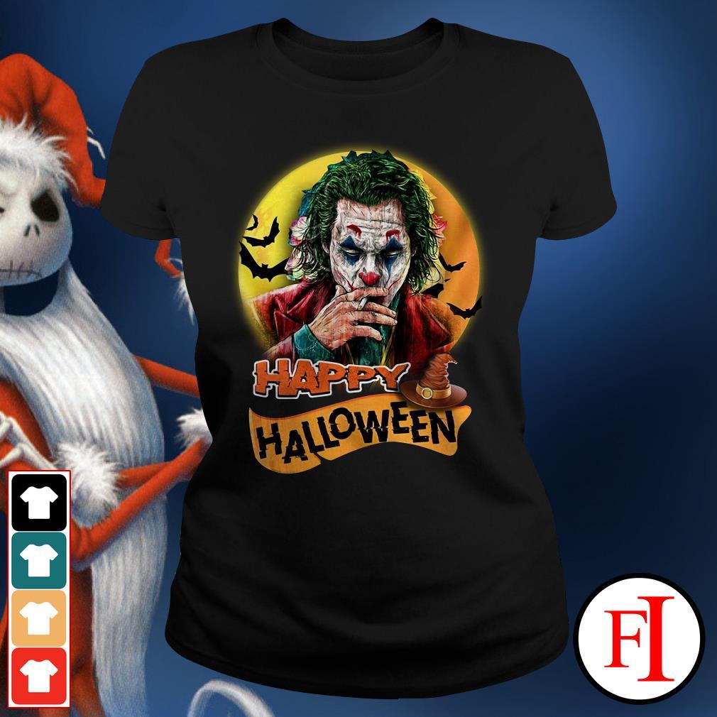 Happy Halloween Joker Joaquin Phoenix Ladies Tee