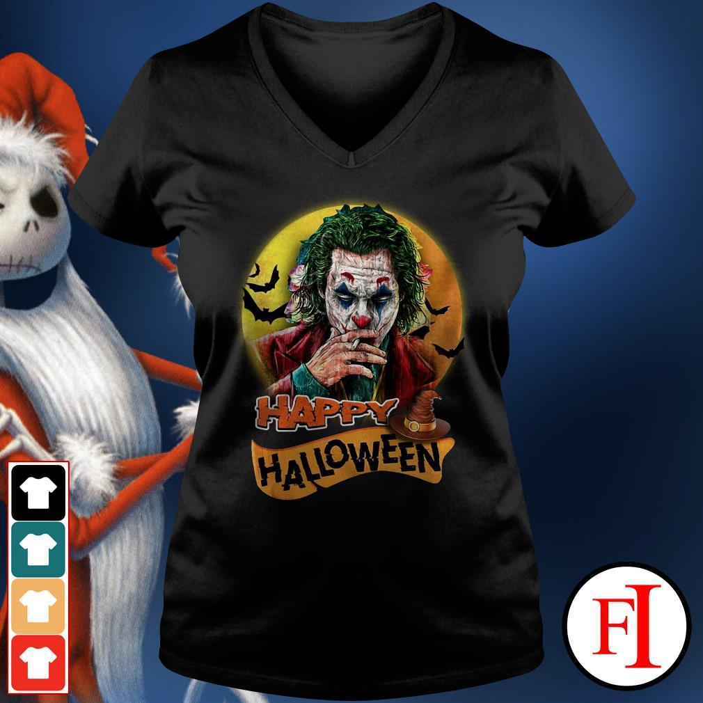 Happy Halloween Joker Joaquin Phoenix V-neck t-shirt