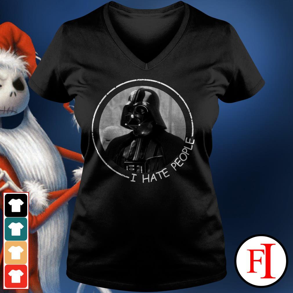 I hate people Darth Vader V-neck t-shirt