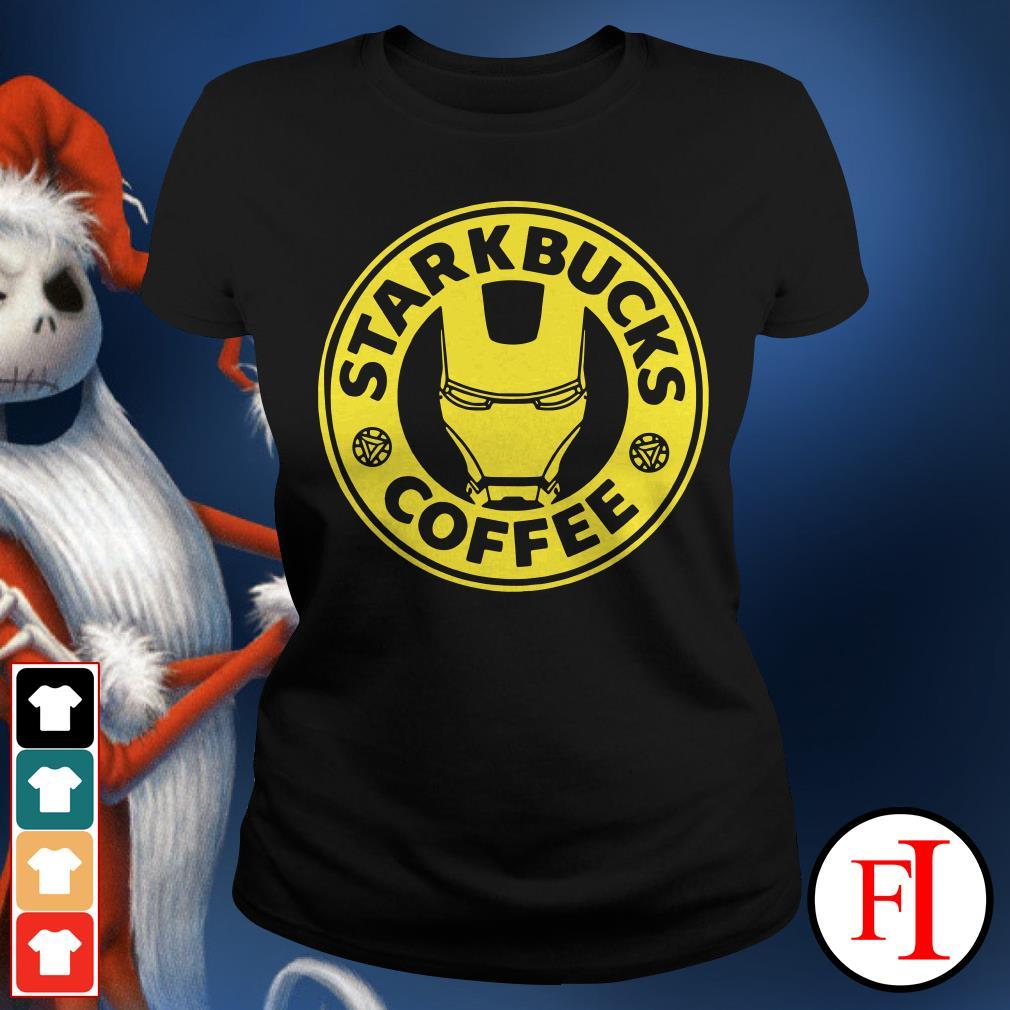 Iron man Starkbucks Coffee Ladies Tee