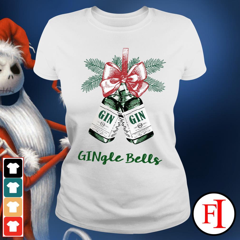 Jingle Bell Gin Gingle Bells Ladies Tee