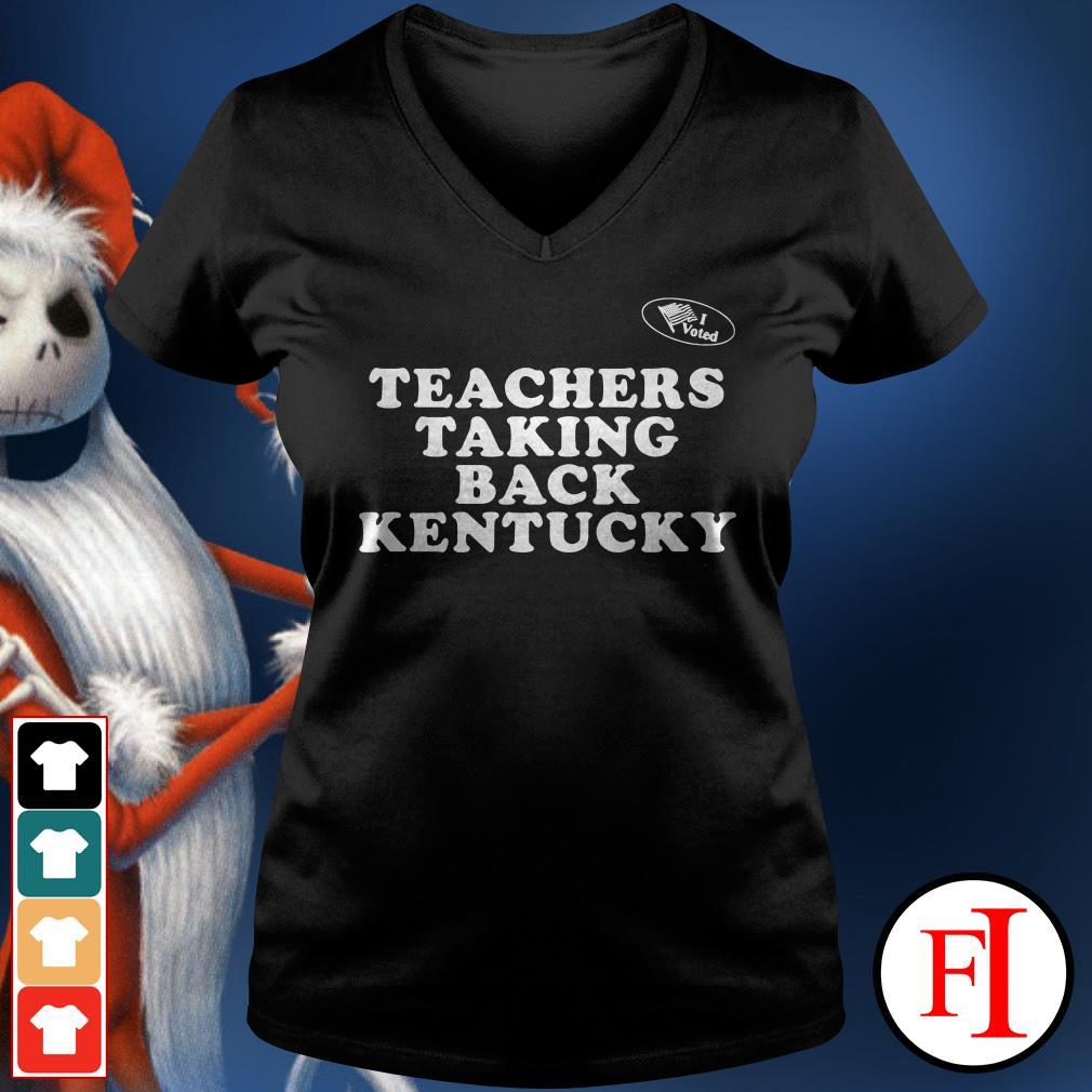 Kentucky Teachers taking back V-neck t-shirt