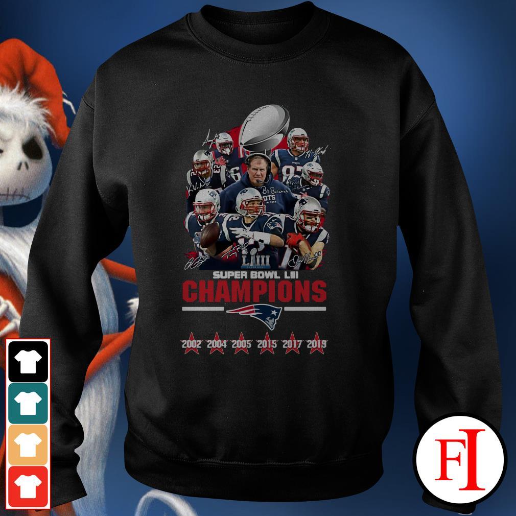 LIII champions New England Patriots super bowl Sweater