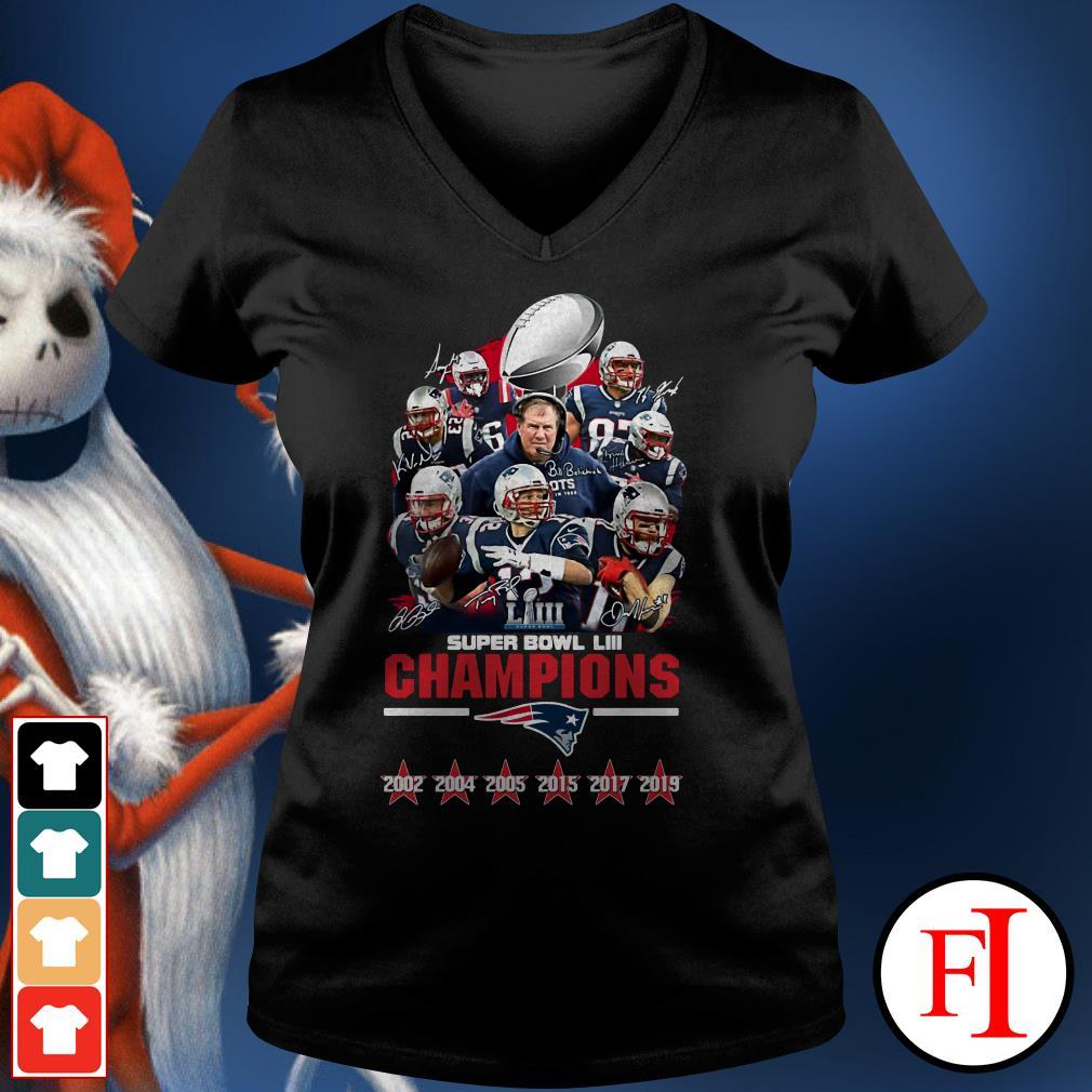 LIII champions New England Patriots super bowl V-neck t-shirt