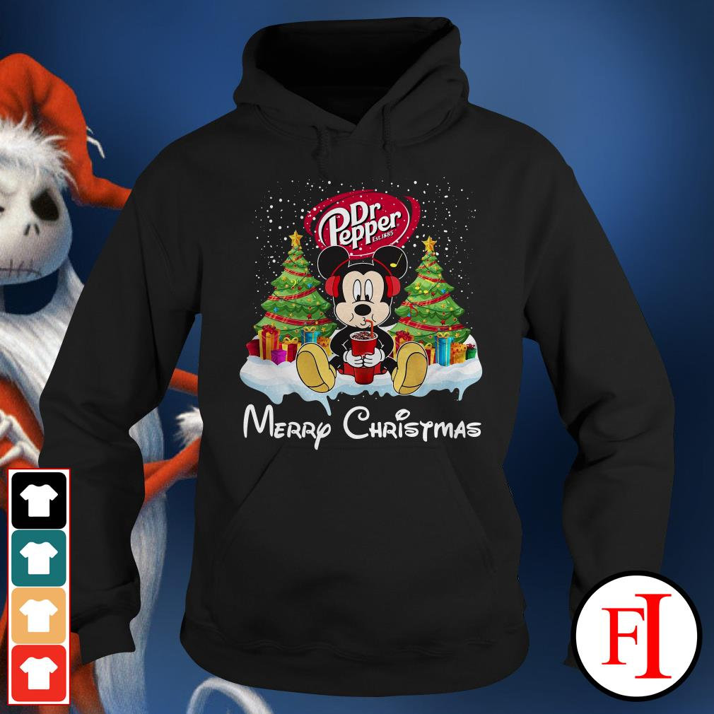 Merry Christmas Mickey Mouse drink Dr Pepper Hoodie
