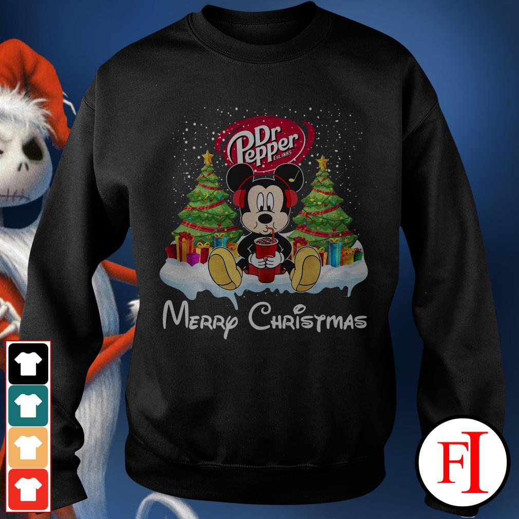 Merry Christmas Mickey Mouse drink Dr Pepper Sweater