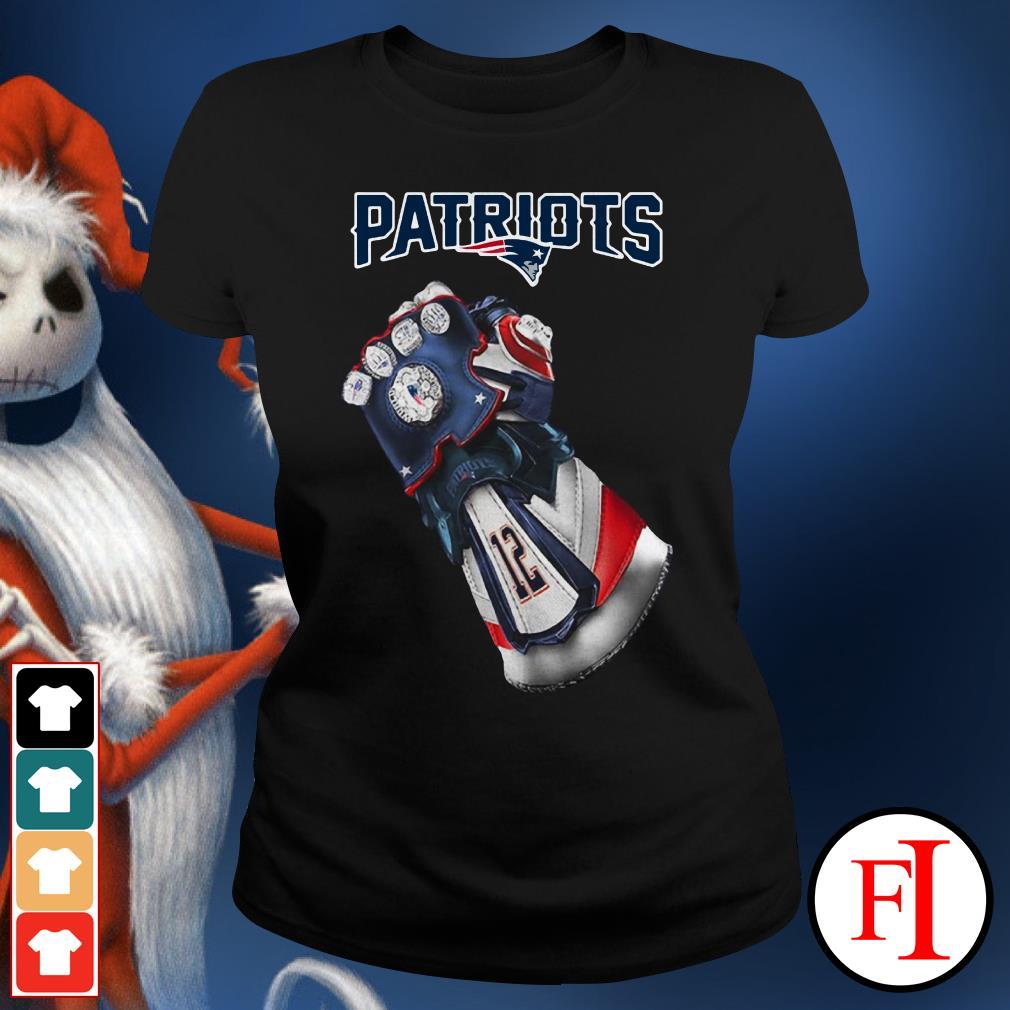 New England Patriots Infinity Gauntlet Ladies Tee
