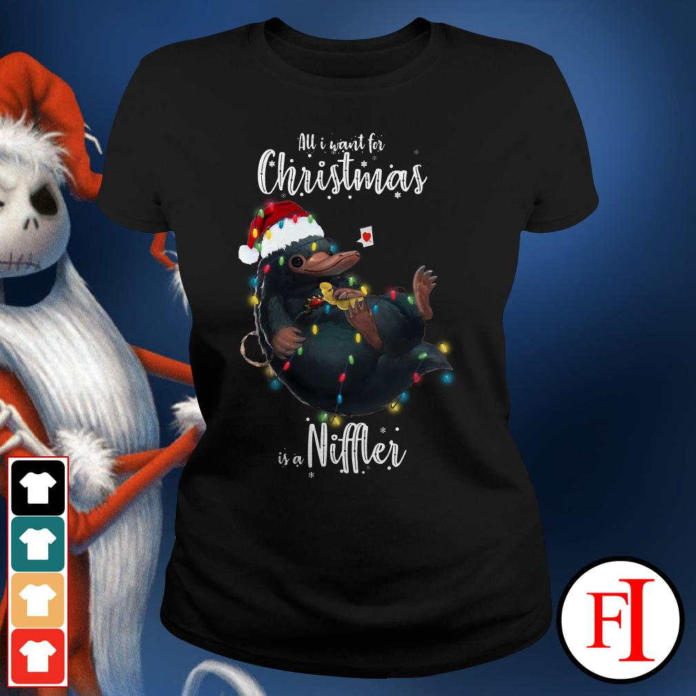 Niffler All I want for Christmas is a Ladies Tee