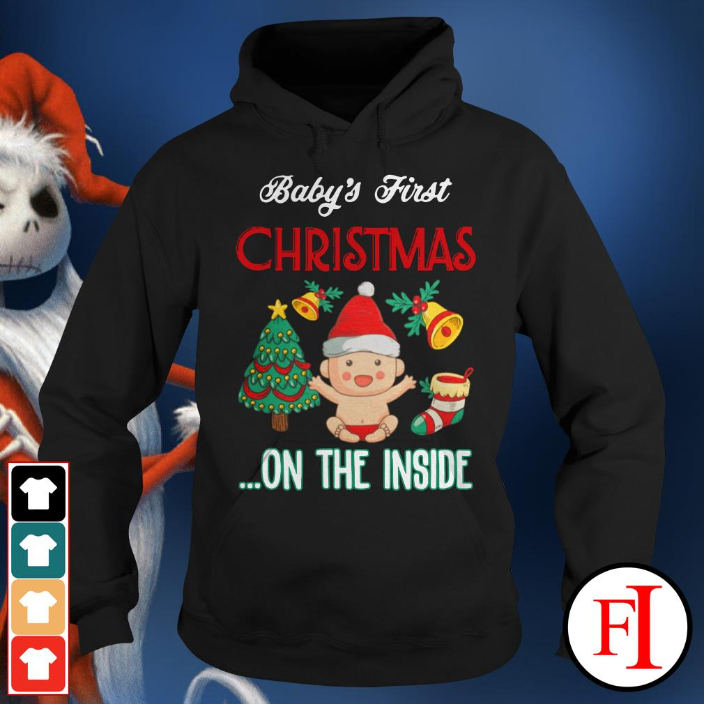 Official Baby's first Christmas on the inside Hoodie