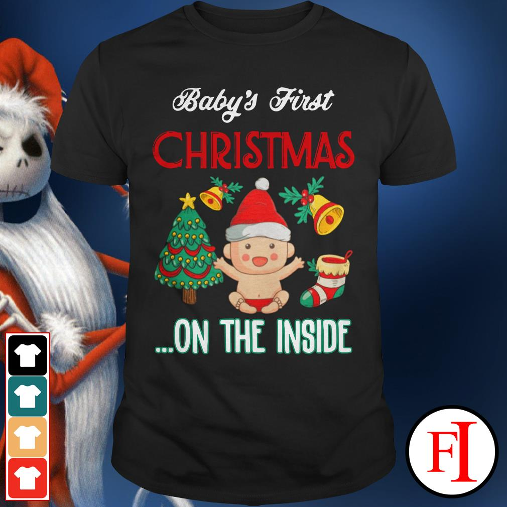 Official Baby's first Christmas on the inside Shirt