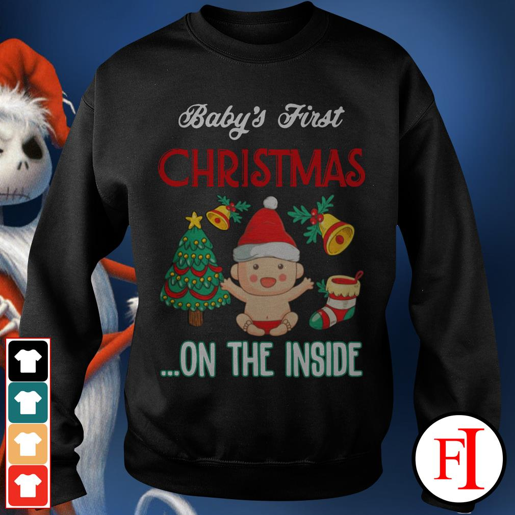 Official Baby's first Christmas on the inside Sweater