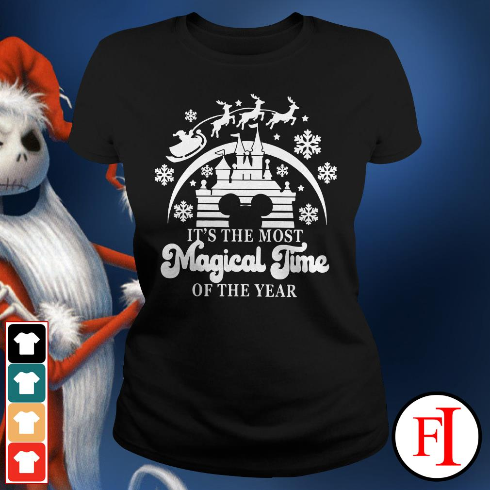 Official Disneyland Mickey Mouse it's the most magical time of the year Ladies Tee