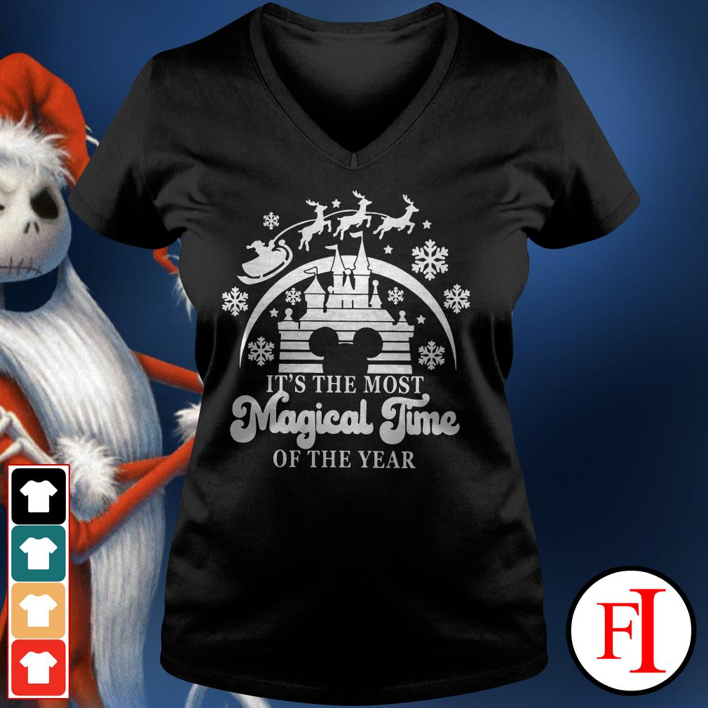 Official Disneyland Mickey Mouse it's the most magical time of the year V-neck t-shirt