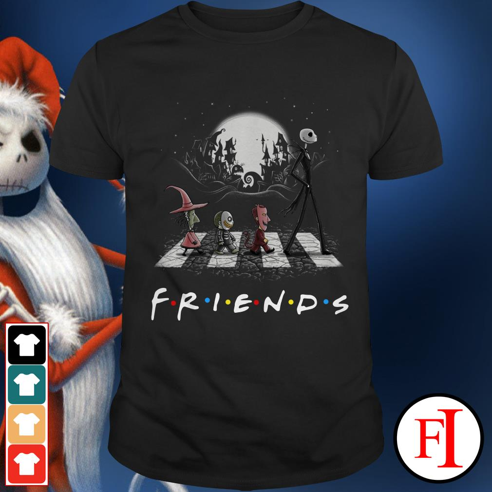 Official Friends The Nightmare Before Christmas Abbey Road Shirt