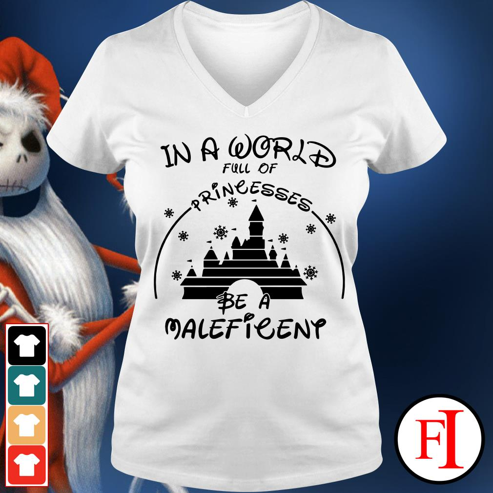 Official In a world full of princesses be a Maleficent V-neck t-shirt