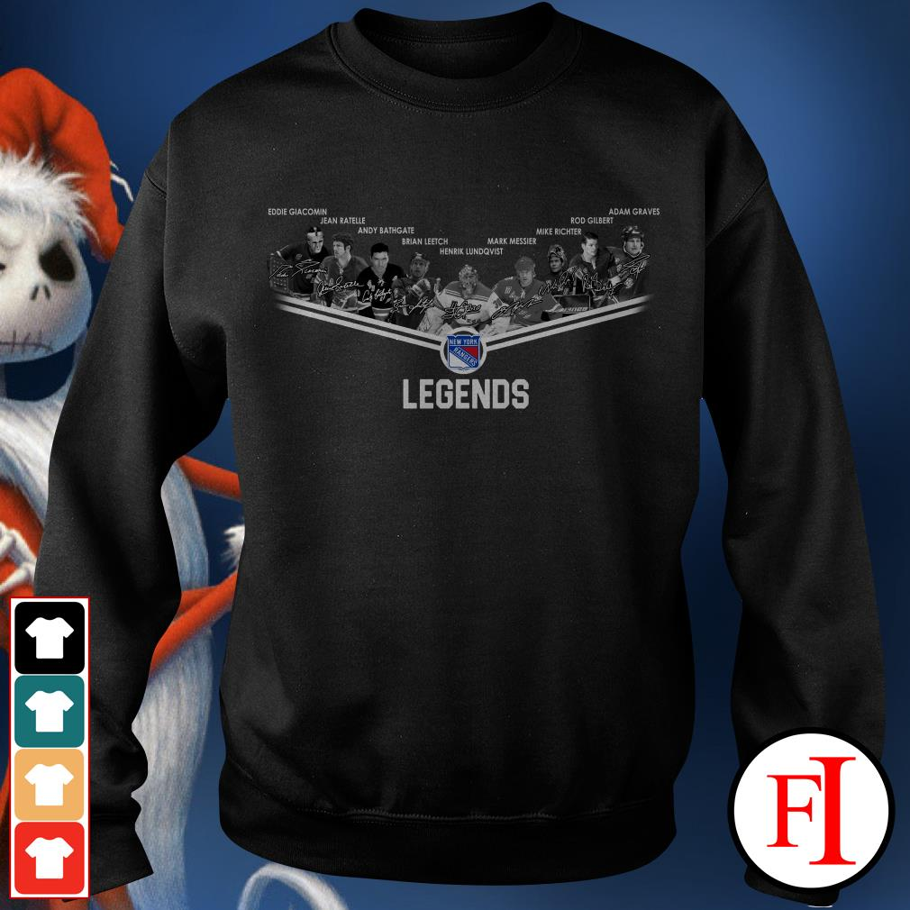 Official New York Rangers legends signatures Sweater