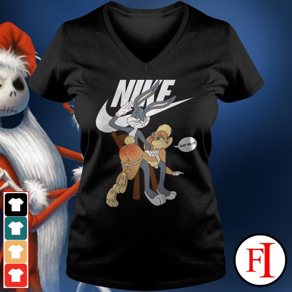 Official Nike Bugs Bunny spanking Lola V-neck t-shirt