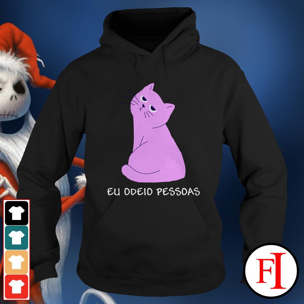 Official Pink cat eu odeid pessdas Hoodie