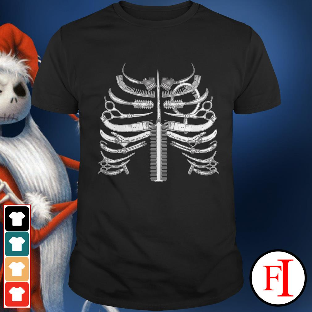 Official Skeleton ribs bone hairstyle Shirt