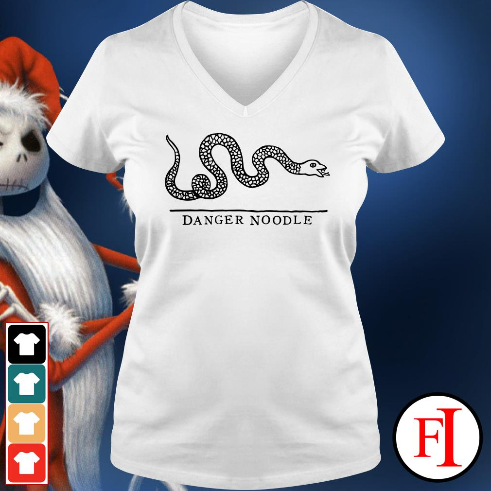 Official Snake danger noodle V-neck t-shirt
