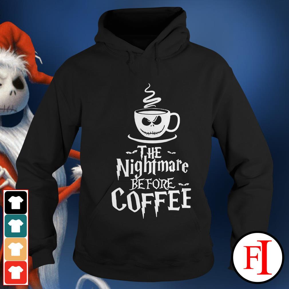 Official The nightmare before coffee Hoodie