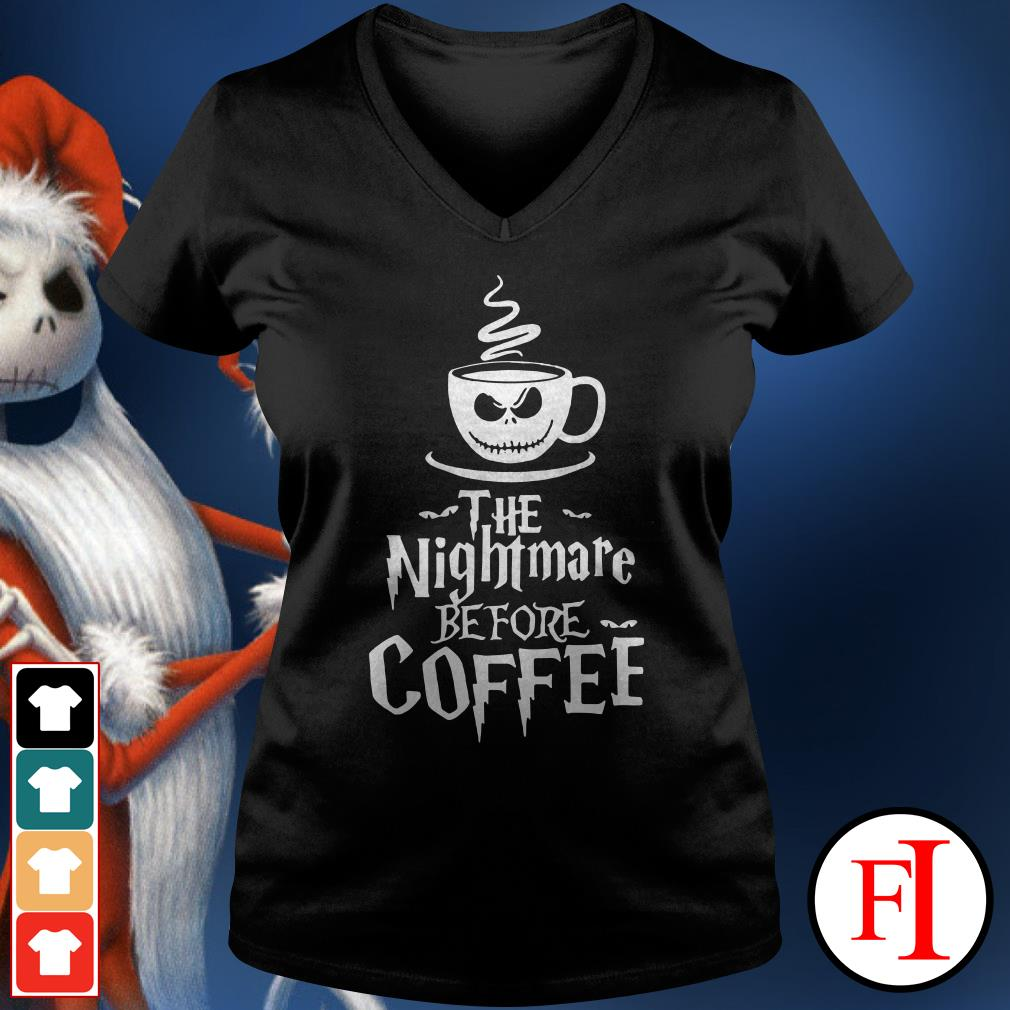 Official The nightmare before coffee V-neck t-shirt