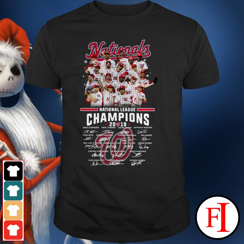 Official Washington Nationals National champions 2019 signatures Shirt