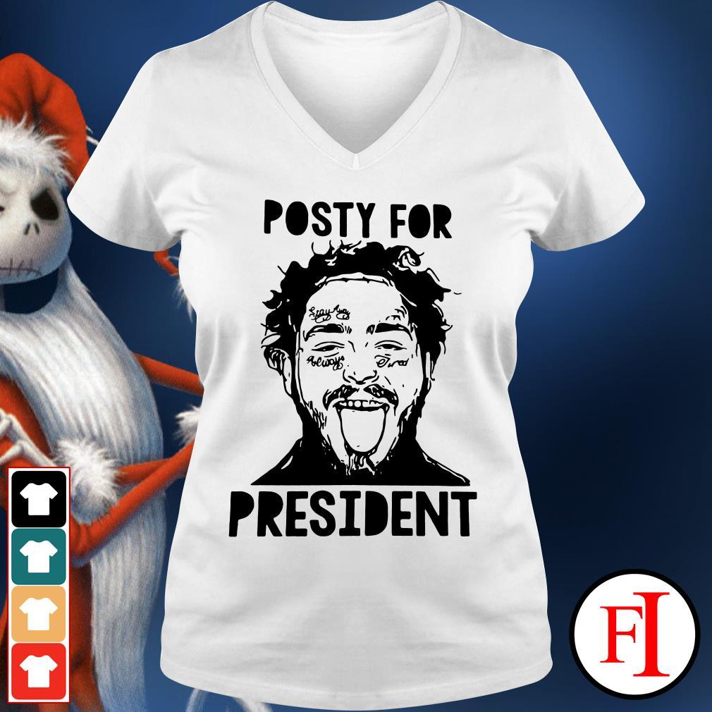 Posty for president Post Malone V-neck t-shirt