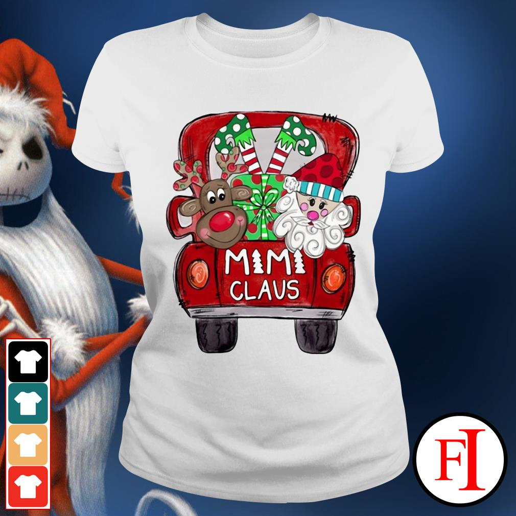 Santa Claus Christmas truck Mimi Claus Ladies Tee
