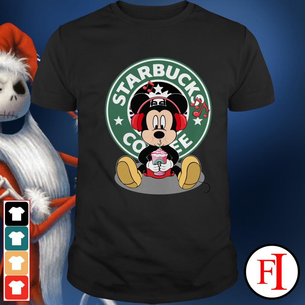 Starbucks coffee Mickey listening to music drink Shirt