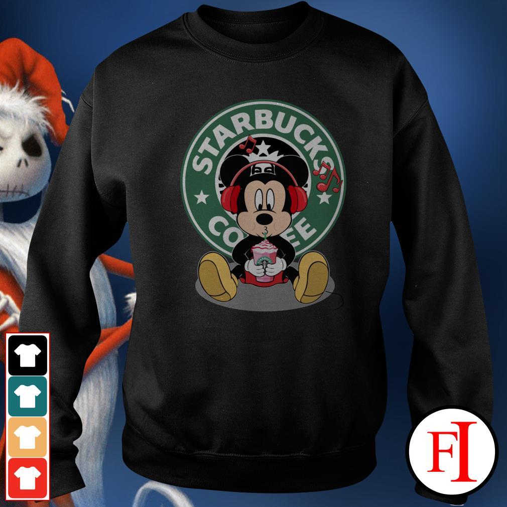 Starbucks coffee Mickey listening to music drink Sweater