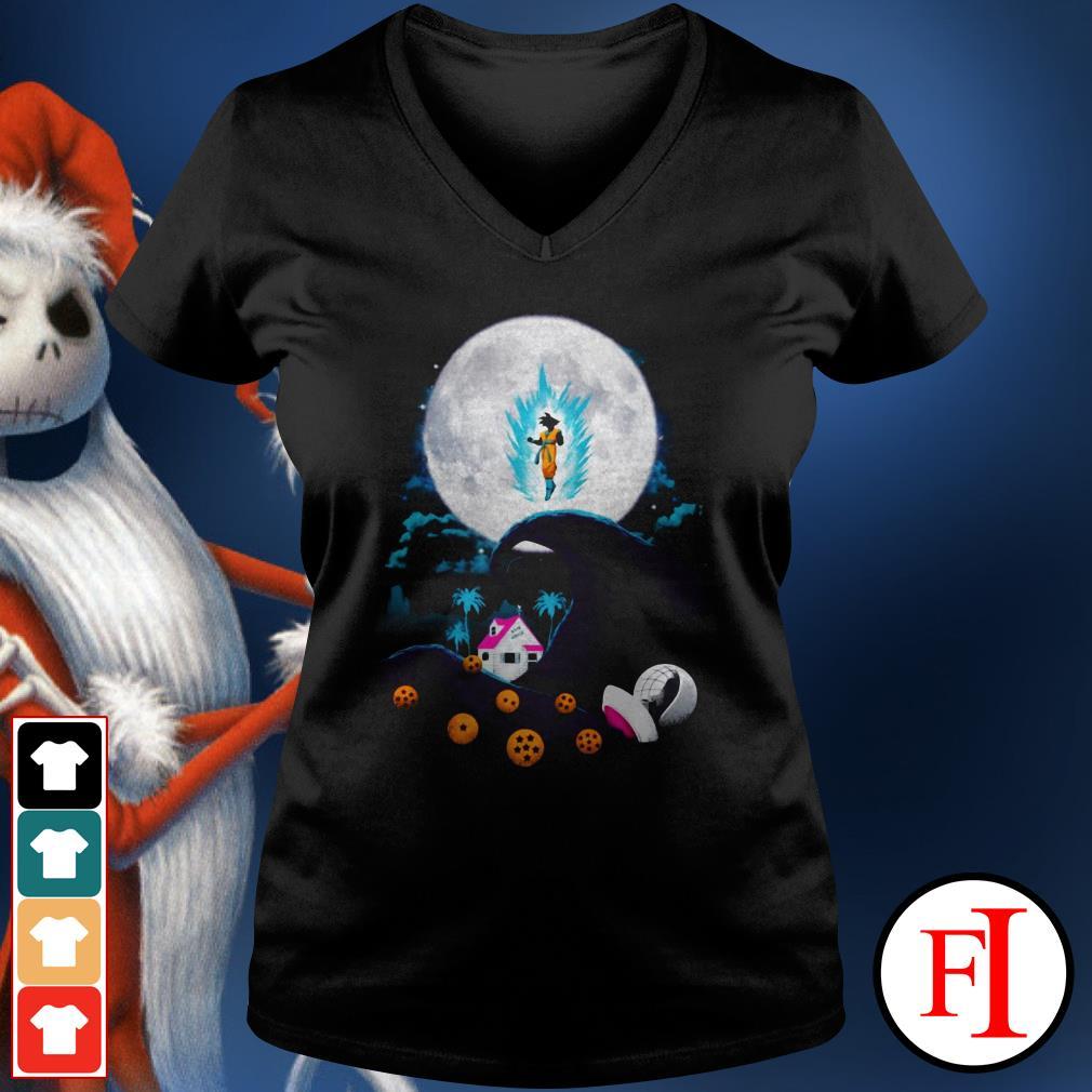 The nightmare before Christmas Dragon Ball V-neck t-shirt