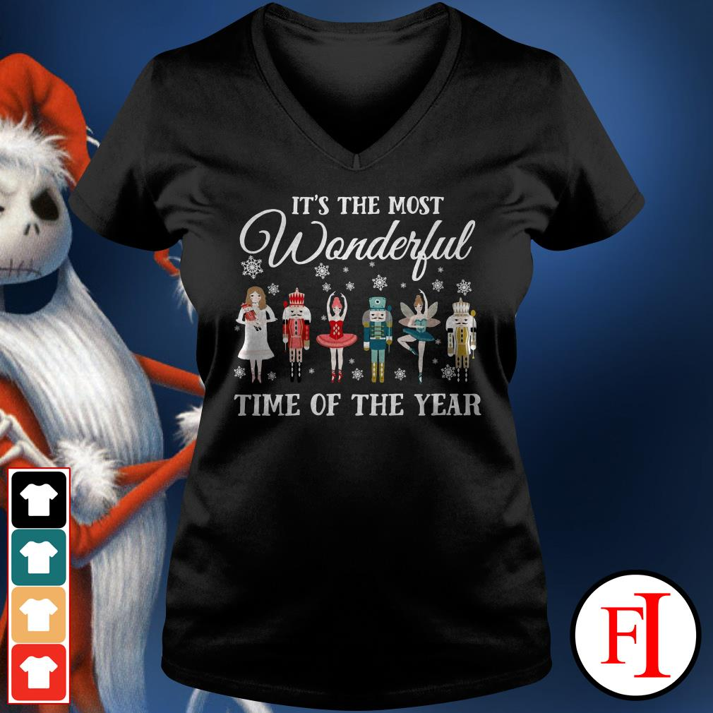 It's the most wonderful time of the year Ballet Nutcracker V-neck t-shirt