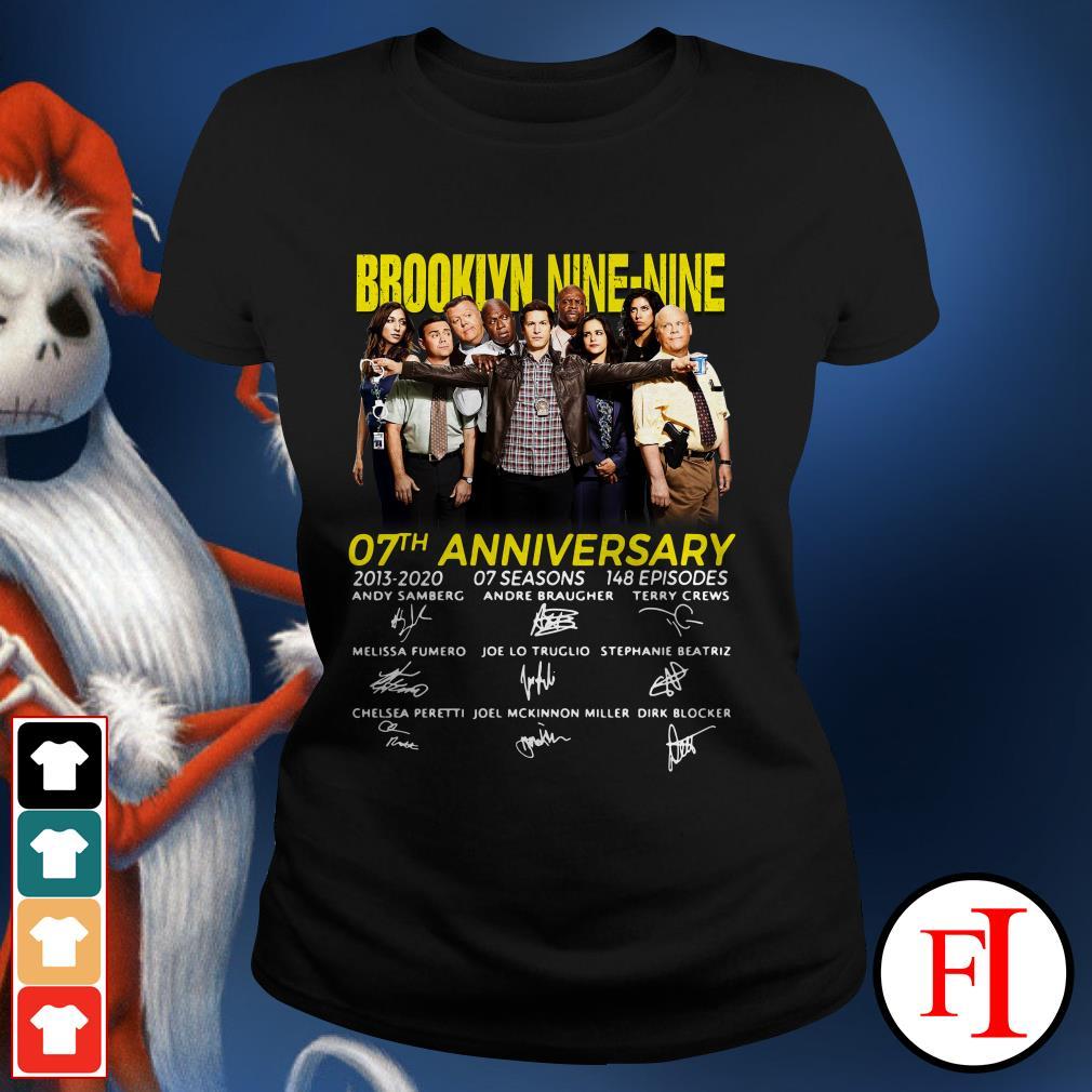 07th Anniversary Brooklyn Nine-Nine signatures Ladies Tee
