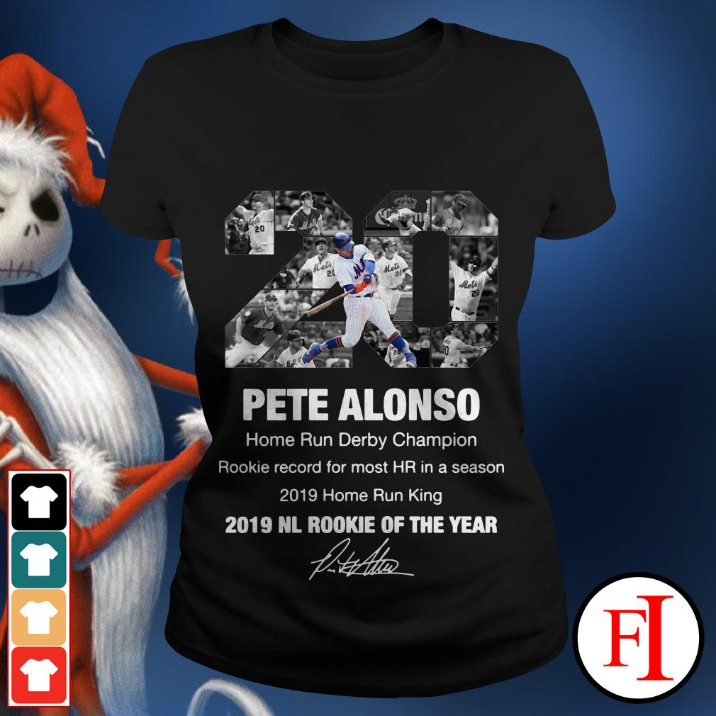20 Pete Alonso 2019 NL Rookie of the year Ladies tee