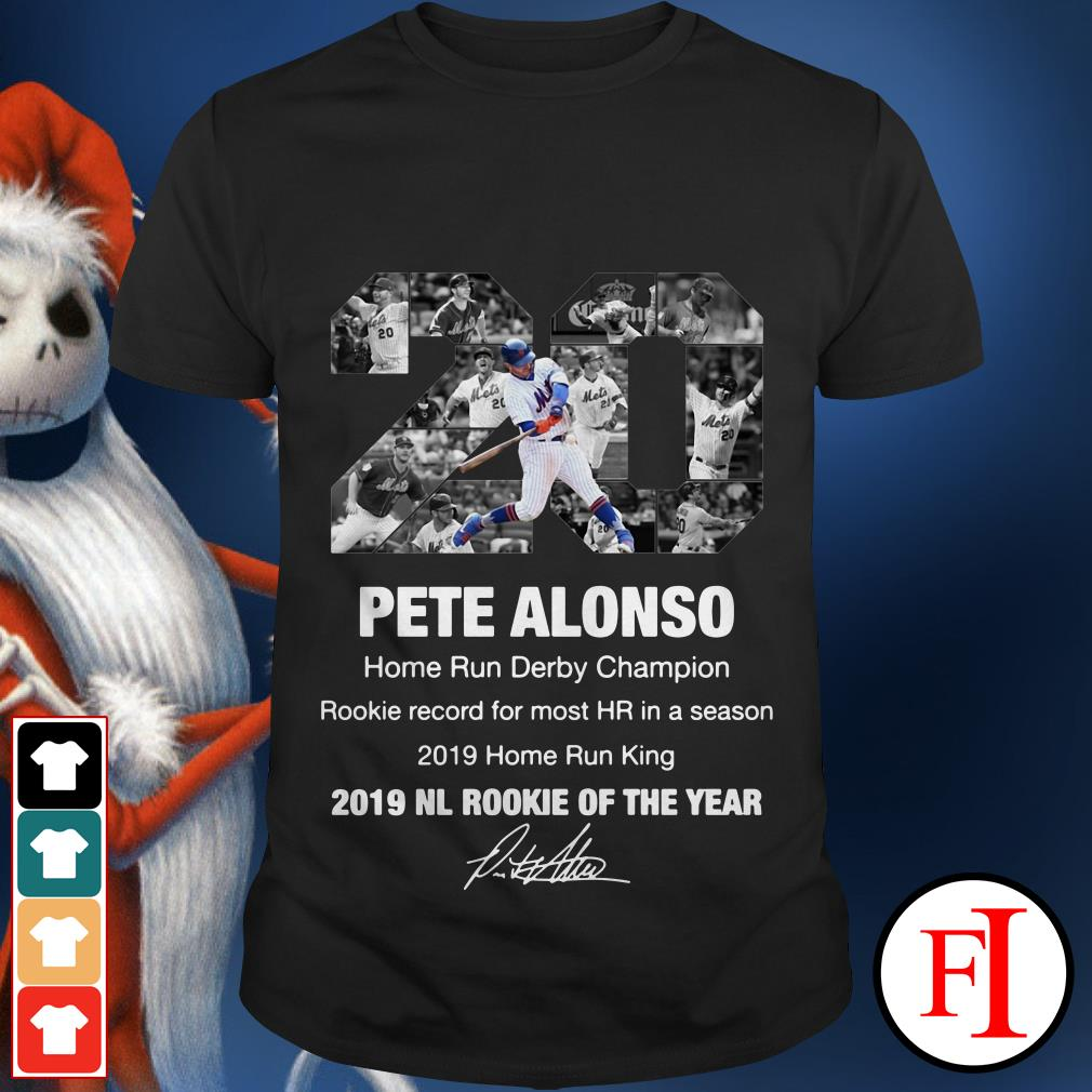 20 Pete Alonso 2019 NL Rookie of the year shirt