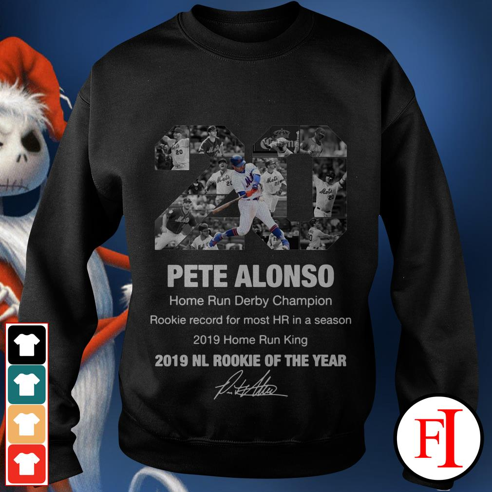 20 Pete Alonso 2019 NL Rookie of the year Sweater