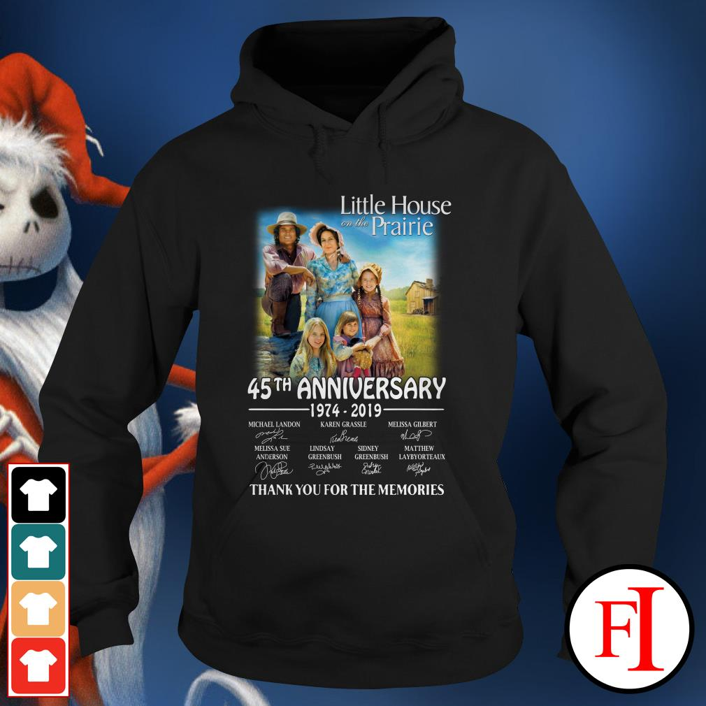 45th anniversary Little House on the prairie 1974-2019 thank you for the memories Hoodie