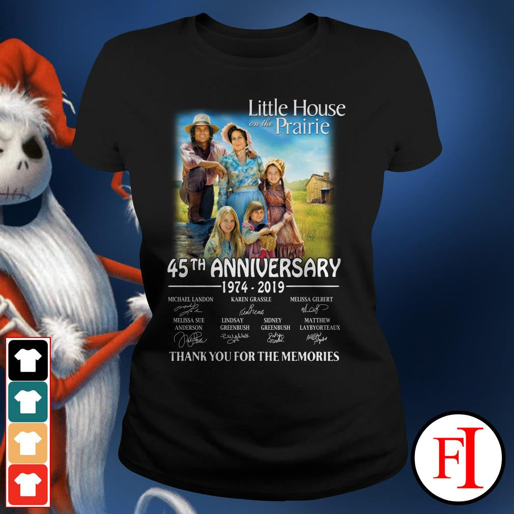 45th anniversary Little House on the prairie 1974-2019 thank you for the memories Ladies Tee