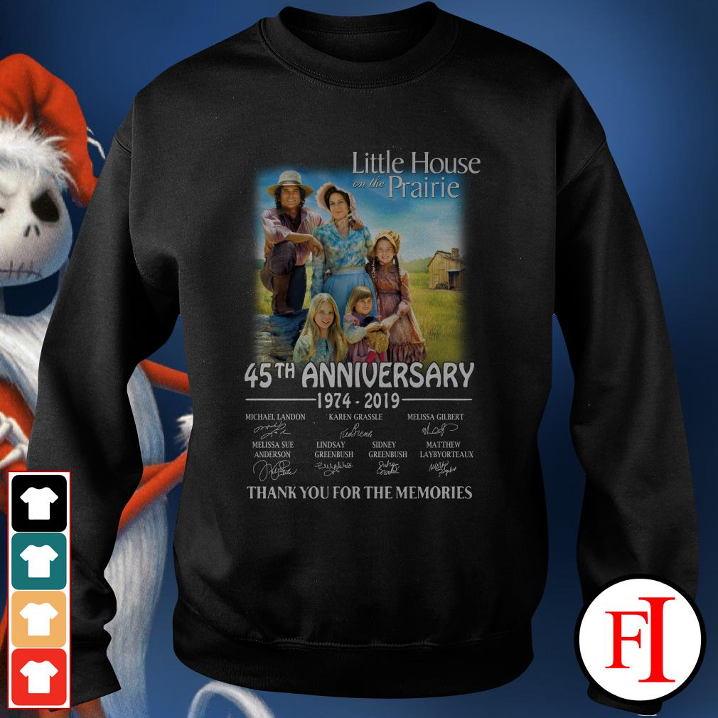 45th anniversary Little House on the prairie 1974-2019 thank you for the memories Sweater